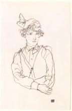 Egon Schiele, Ritratto di donna (Edith Schiele)   Portrait of a woman (Edith Schiele)