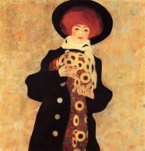 Egon Schiele, Ritratto di una donna con cappello nero (Gertrude Schiele)   Bildnis einer Frau mit schwarzem Hut (Gertrude Schiele)