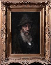 Giovanni Segantini (attribuito a), Ritratto di Bodard