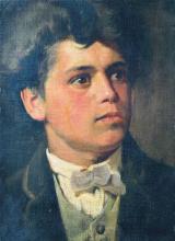 Giovanni Segantini, Autoritratto all'età di vent'anni