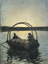 Giovanni Segantini, Ave Maria a trasbordo | Ave Maria bei der Überfahr | Ave Maria on the crossing [1882]