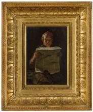 Giovanni Segantini, Calzolaio attento a leggere il giornale