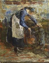 Giovanni Segantini, Donna alla fontana | Frau am Brunnen [1896]