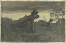 Giovanni Segantini, L'ultima fatica del giorno   Le dernier labeur du jour [1891]