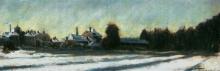Giovanni Segantini, Paesaggio innevato in Lombardia | Paysage de neige en Lombardie