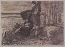 Giovanni Segantini, Pastore addormentato [1893]