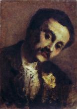 Giovanni Segantini, Ritratto di Cesare Grubicy de Dragon