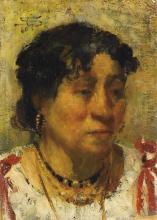 Giovanni Segantini, Ritratto di contadina [1880-1882]