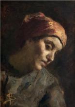 Giovanni Segantini, Ritratto di contadina