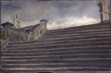 Giovanni Segantini, Studio di scalinata