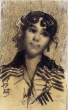 Giovanni Segantini, Testa di donna