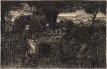 Giovanni Segantini, Una piccola compagnia in giardino