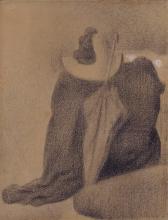 Seurat, Natura morta con cappello, ombrellino e vestiti su una sedia.jpg