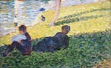 Seurat, Studio per Una domenica pomeriggio all'isola della Grande Jatte [4].jpg