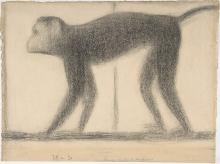 Seurat, Studio per Una domenica pomeriggio all'isola della Grande Jatte, scimmia.jpg
