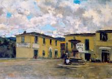 Signorini, La piazza di Settignano all'ombra