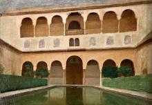 Simi, Alhambra, balcone e loggia sulla piscina.png