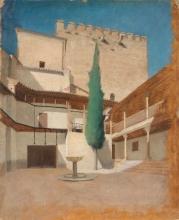 Simi, Alhambra, cortile con cipresso.jpg