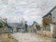 Sisley, La piazzetta - La strada del villaggio.jpg