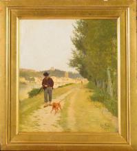 Raffaello Sorbi, Cacciatore lungo le rive dell'Arno