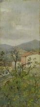 Raffaello Sorbi, Paesaggio con caseggiati