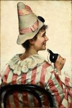 Raffaello Sorbi, Ritratto di fanciullo in maschera
