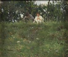 Raffaello Sorbi, Sul prato in fiore