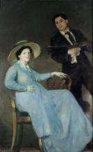 Armando Spadini, Il pittore e la moglie