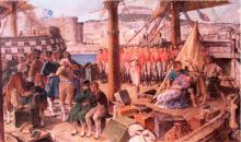 Tedesco, Arresto dei patrioti napoletani a bordo di una bilancella francese.png