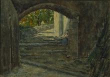 Tommasi Adolfo (attribuito a), Scena d'esterno.jpg