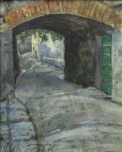 Tommasi Adolfo (attribuito a), Via del Borgo.png