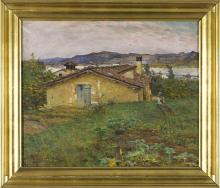 Tommasi Adolfo, Casale nella campagna toscana.png