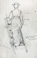 Tommasi Adolfo, Figura femminile su una scala.jpg