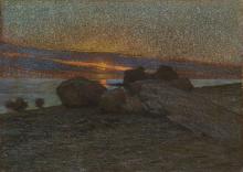 Tommasi Adolfo, Marina al tramonto.png