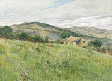 Tommasi Adolfo, Paesaggio con casa colonica.png