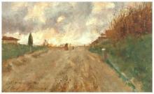 Tommasi Adolfo, Senza titolo [Strada di campagna con figure].jpg