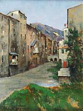 Tommasi Adolfo, Vecchie case lungo il Mugnone.png