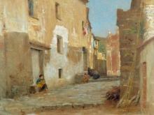 Tommasi Adolfo, Veduta di strada in Liguria.jpg
