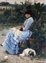 Tommasi Angiolo, Eleonora Tommasi in giardino.jpg