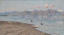 Tommasi Angiolo, Le Alpi Apuane viste dal lago di Massaciuccoli