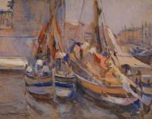 Tommasi Ludovico, Barche in porto.jpg