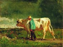 Constant Troyon, Mandriano | Cowherd