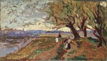 Ulvi Liegi, Paesaggio con figure