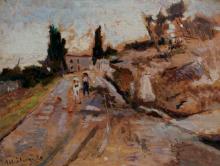 Ulvi Liegi, Stradina di campagna con contadino e mucca