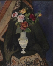 Suzanne Valadon, Bouquet di fiori in un vaso Impero | Bouquet de fleurs dans un vase Empire