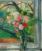 Suzanne Valadon, Fiori davanti a una finestra | Květiny před oknem | Flowers in front of a Window
