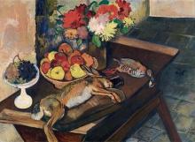 Suzanne Valadon, Natura morta con coniglio e pernice | Nature morte au lapin et à la perdrix