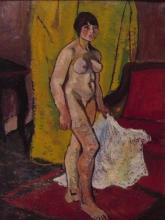 Suzanne Valadon, Nudo con il drappeggio bianco | Nu à la draperie blanche