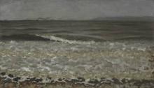 Vallotton, Alta marea, Villerville | Mer haute, Villerville | High tide, Villerville