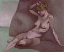 Vallotton, Bagnante seduta su uno scoglio [1918].jpg